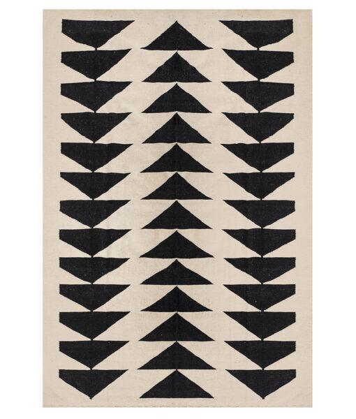 black and white triangle kelim