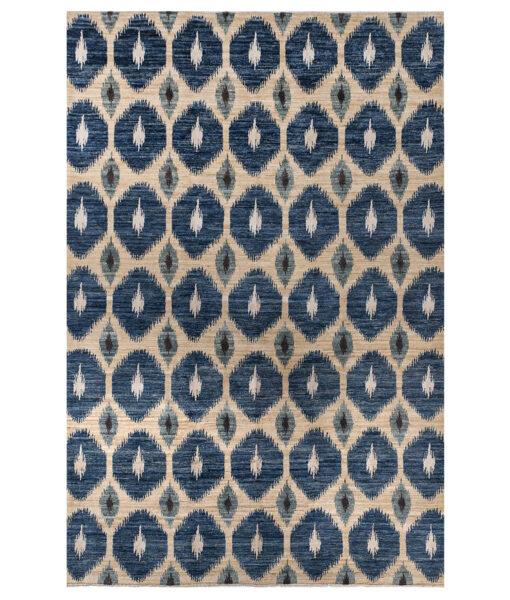 blue ikat rug