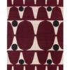 Burgundy ovals rug