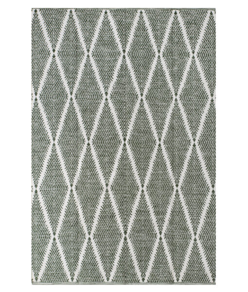 outdoor feather rug green