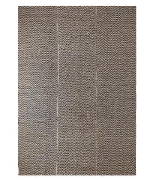 Brown fine stripe kelim