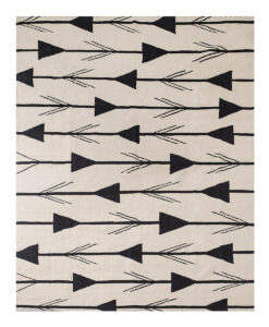 black arrow rug