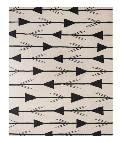 black arrow rug
