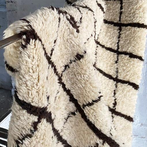 chessboard wool rug