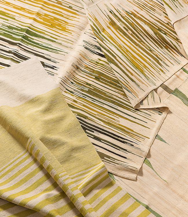 green kelim rug
