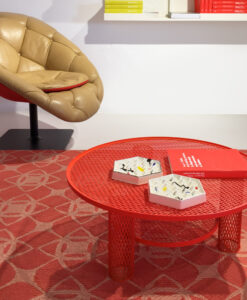 loop pile rug red