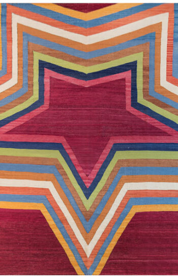 red star dhurrie rug