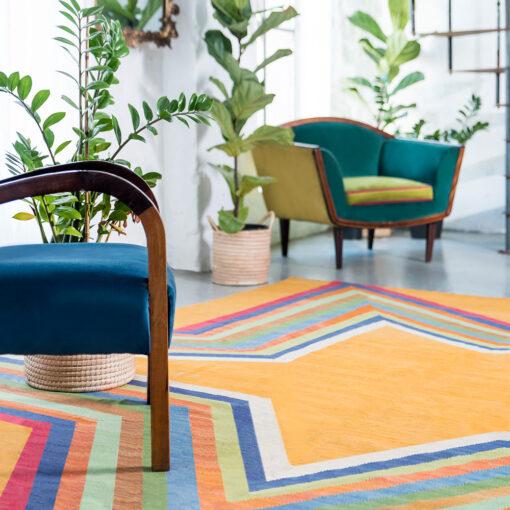 yellow star rug